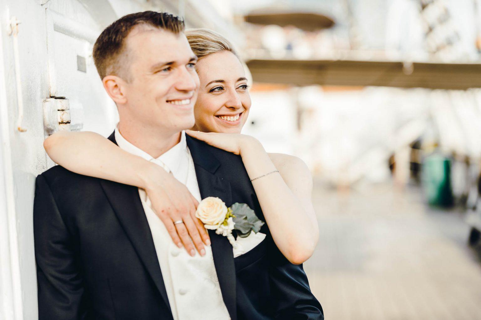 Hochzeitsportrait auf der Rickmers Rickmers
