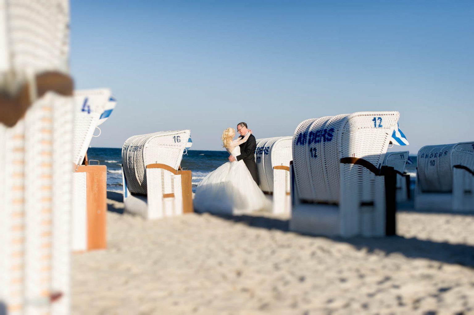 Hochzeitsportrait am Strand