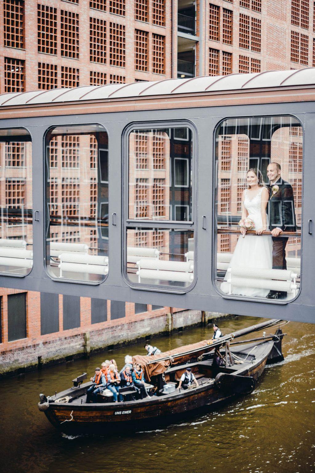 Hochzeitsportrait in der Speicherstadt