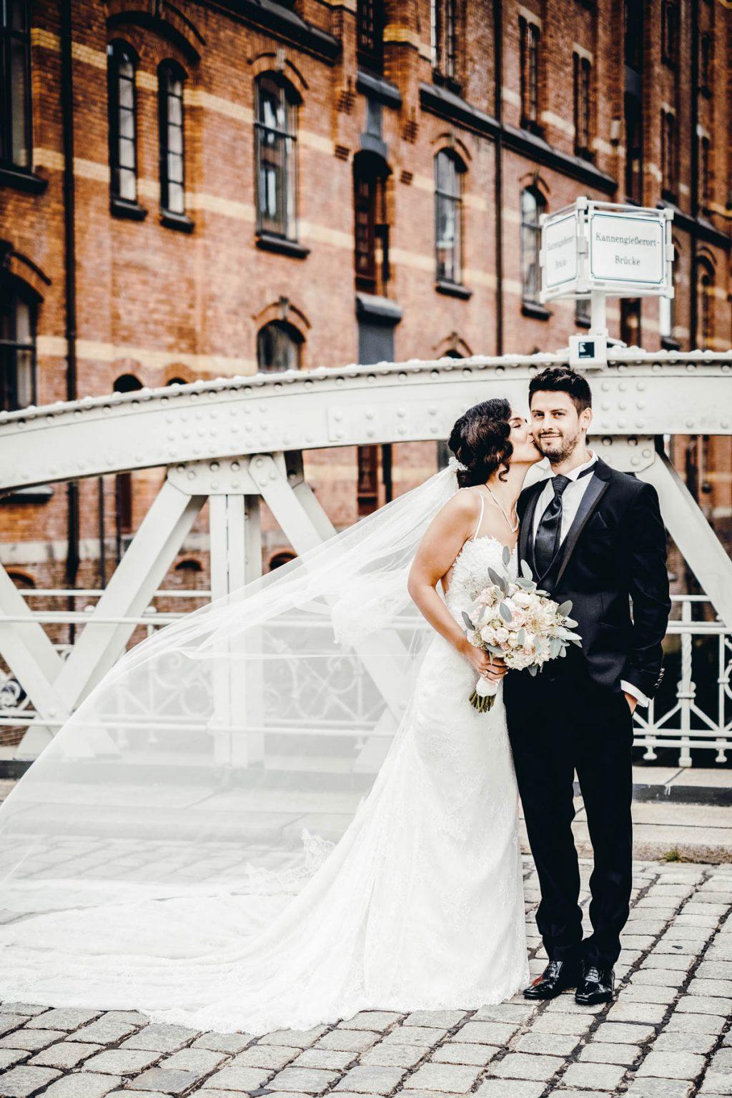 Hochzeitsportrait in der Speciherstadt